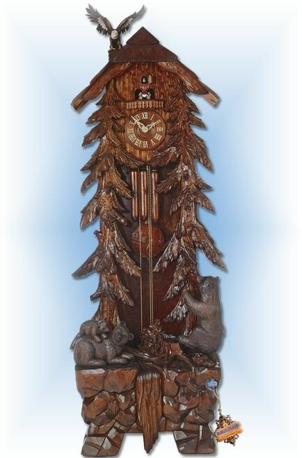 Cuckoo Clock Grandfather 85 inch Grand Bear by Hönes