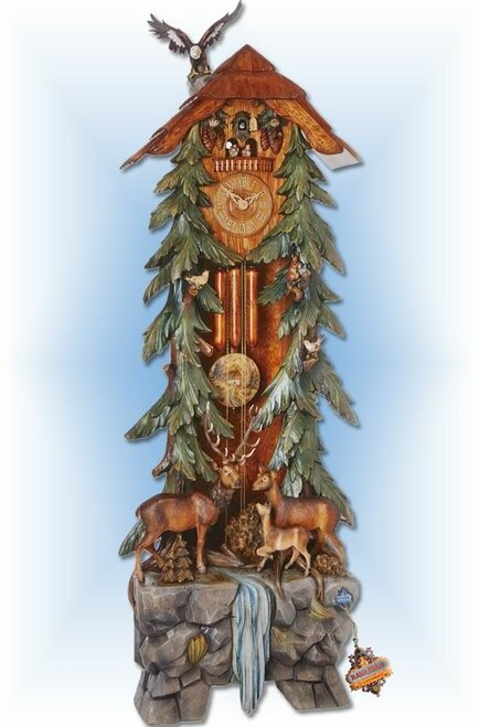 Cuckoo Clock grandfather 86 inch Grand Forest by Hönes