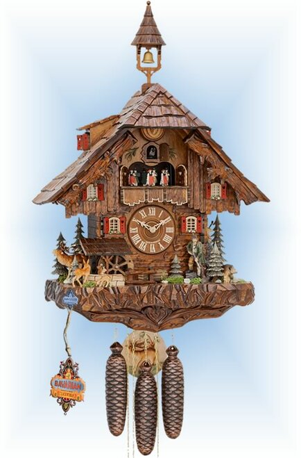 Cuckoo Clock chalet style 24 inch Hunters Paradise by Hekas