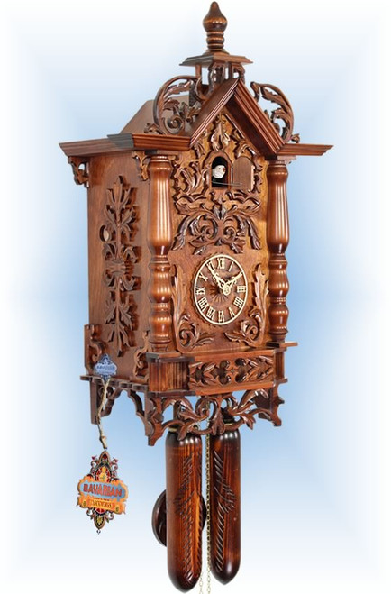 Cuckoo Clock vintage style 20 inch 1870 Railway II by Adolf Herr - left