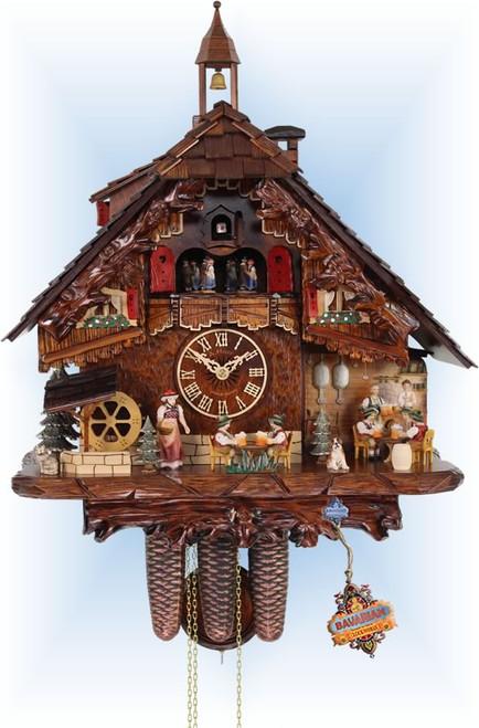 Cuckoo Clock chalet style 18 inch Brauhaus by HerrZeit