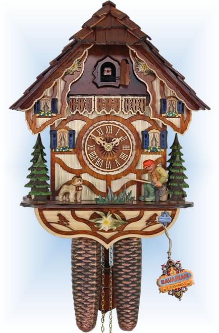 Cuckoo Clock vintage style 13 inch Lucky Fisherman by HerrZeit