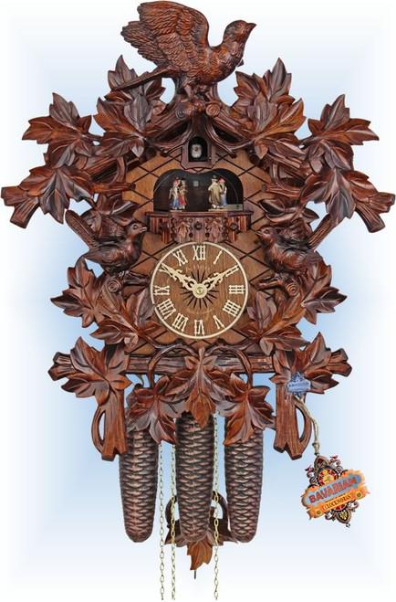 Cuckoo Clock carved style 19 inch Forest Birds by HerrZeit