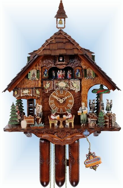 Cuckoo Clock chalet style 17 inch Oktoberfest by HerrZeit