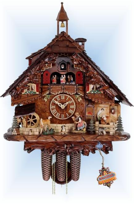 Cuckoo Clock chalet style 18 inch Horse Farm by HerrZeit