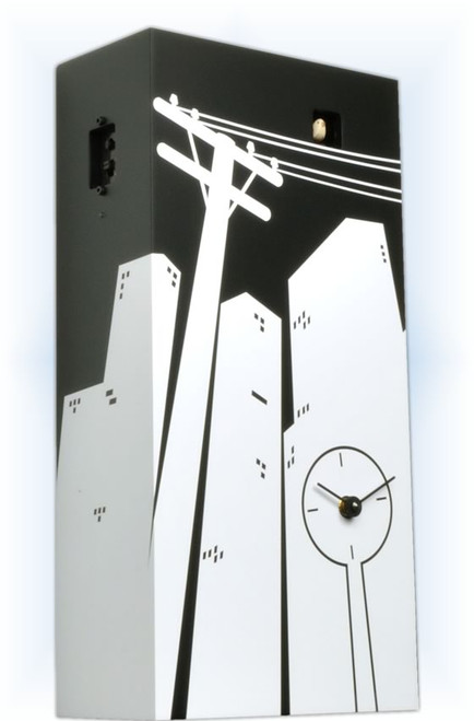 Cuckoo Clock modern style Cucucity by Progetti - left