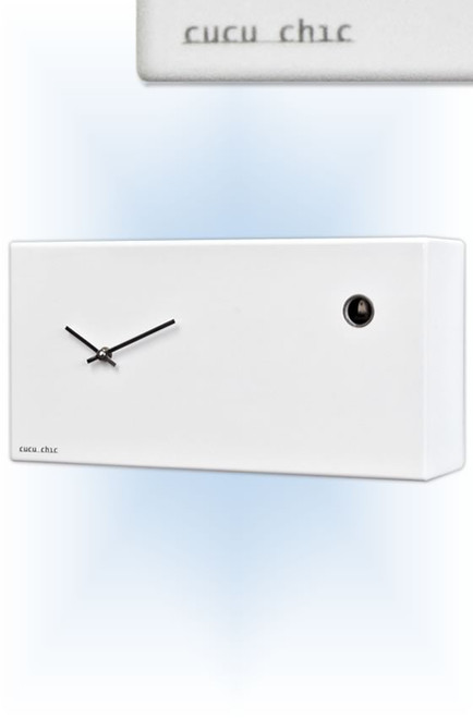 Cuckoo Clock modern style Cucu Chic White by Progetti - right