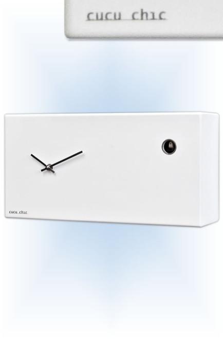 Cuckoo Clock modern style Cucu Chic White by Progetti - right