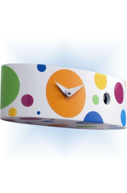 Cuckoo Clock modern style Ellipse Mutlicolor by Progetti - left