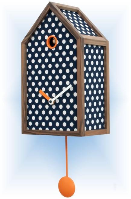 Cuckoo Clock modern style Mr. Orange Blue by Progetti - right