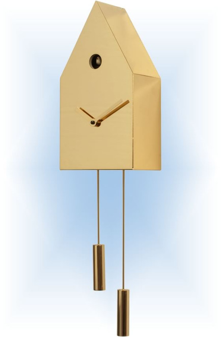 Cuckoo Clock modern style 24K Gold by Progetti - right