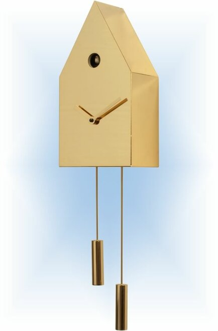 24K Gold by Progetti | Modern Cuckoo Clock | Right View