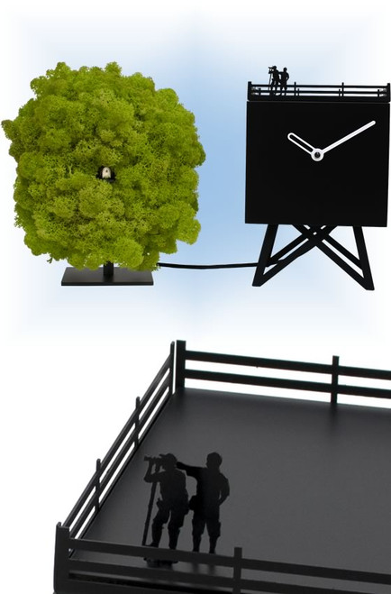 Cuckoo Clock modern style Birdwatching by Progetti - collage 1