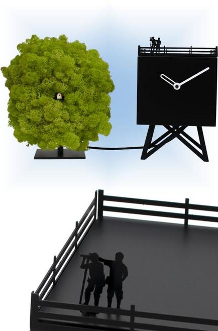 Birdwatching by Progetti | Modern Cuckoo Clock | Collage View
