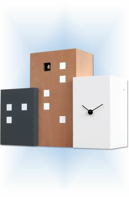 Cuckoo Clock modern style Walls Cucu Pear Wood by Progetti - right