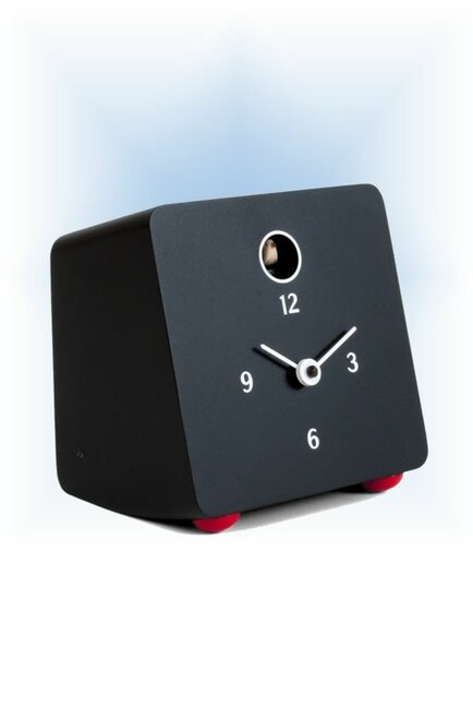 Cuckoo Clock modern style Fido Black by Progetti - left
