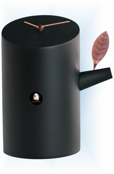 Cuckoo Clock modern style Nido Black by Progetti