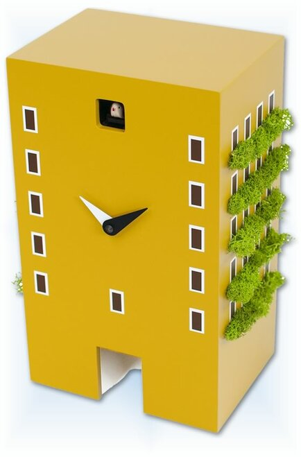 Cuckoo Clock modern style Urban Mustard by Progetti - right
