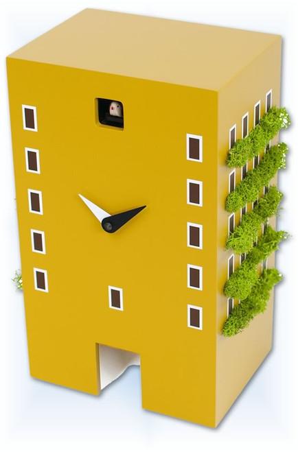 Cuckoo Clock modern style Urban Mustard by Progetti - right