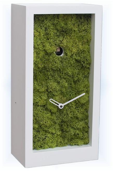 Amazon White by Progetti | Modern Cuckoo Clock | Left View