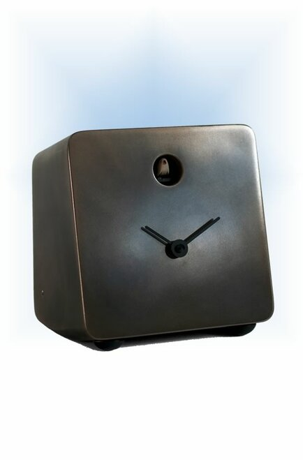 Cuckoo Clock modern style Fido Special Bronze by Progetti - left