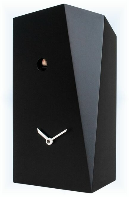 Cuckoo Clock modern style Monolith Black by Progetti - right