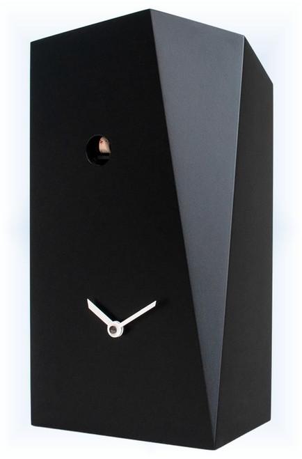 Cuckoo Clock modern style Monolith Black by Progetti - right