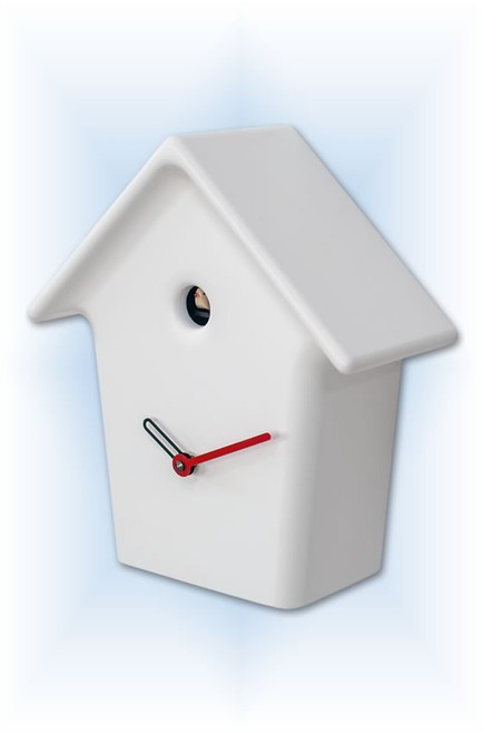 Cuckoo Clock modern style Mochi Mochi White by Progetti - right