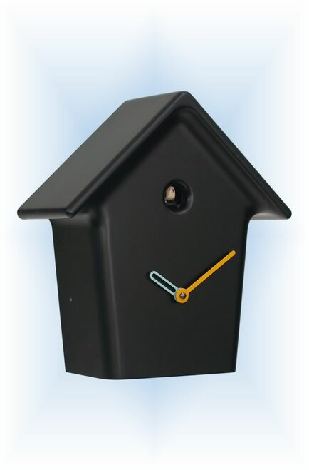 Cuckoo Clock modern style Mochi Mochi Black by Progetti - left