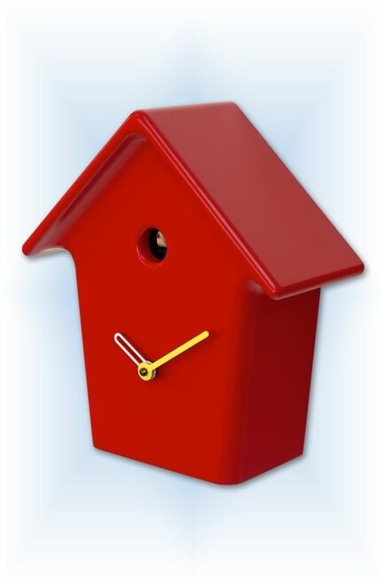 Cuckoo Clock modern style Mochi Mochi Red by Progetti - right