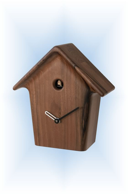 Cuckoo Clock modern style Mochi Mochi Solid Walnut by Progetti - right