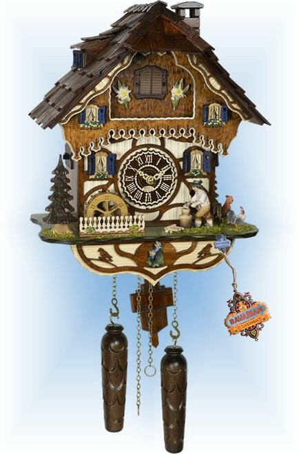 Cuckoo Clock chalet style 14 inch Chopper Chalet by Trenkle