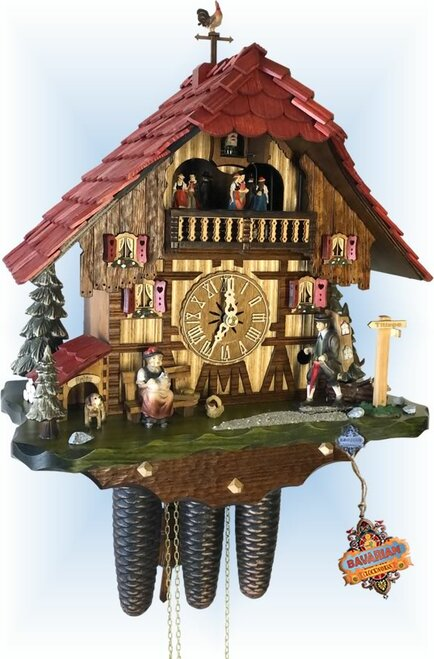 Cuckoo Clock chalet style 16 inch Titisee House by Hekas