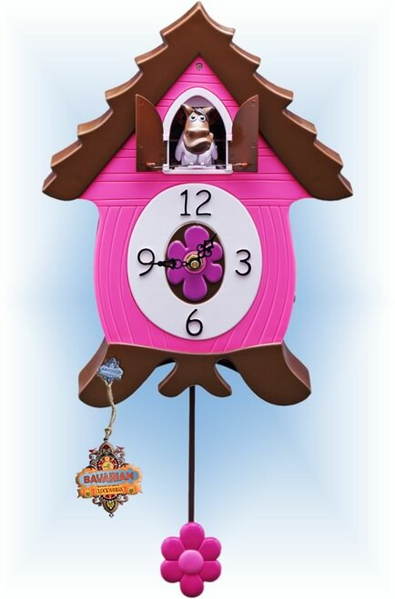 Cuckoo Clock kids quartz 12 inch Ligntnin Les by Bavarian Clockworks