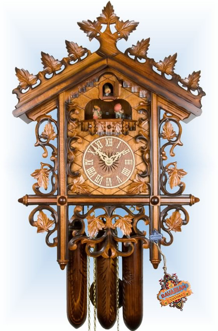 Cuckoo Clock vintage style 20 inch 1870s Railway House by Adolf Herr