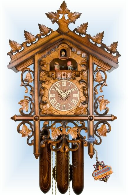 1870s Railway House by Adolf Herr | 20 inch Antique Cuckoo Clock | Front View