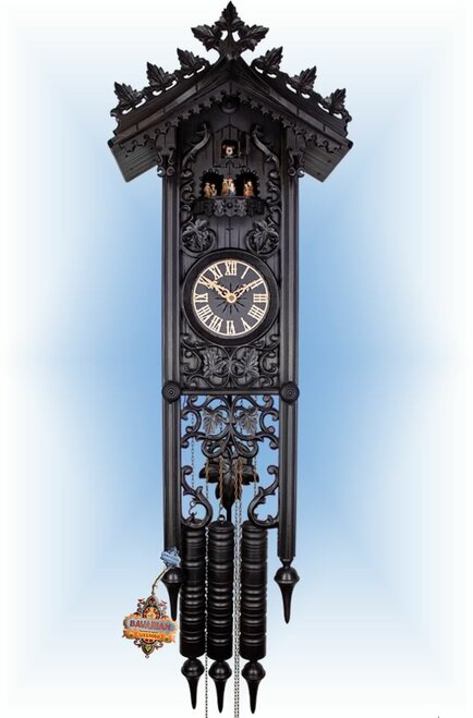 Grand Gothic by Robert Herr | 37 inch Antique Cuckoo Clock | Front View