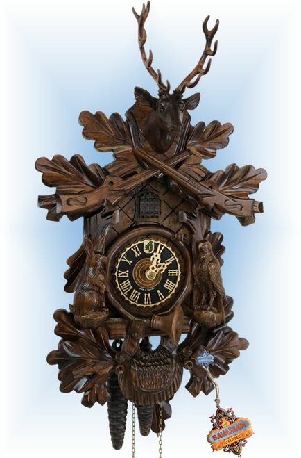 Hones | 134-4 | 20''H | Hunter Eagle | Traditional | cuckoo clock | full view