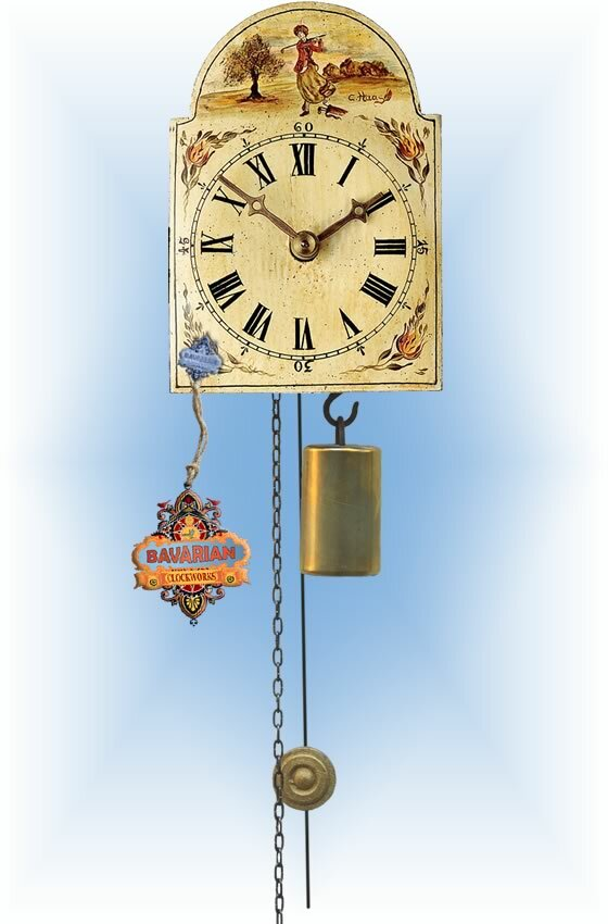 Rombach & Haas   1golf-f   5''H   Lady Golfer   Shield style   jockele clock   full view