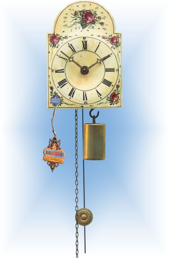 Rombach & Haas   195   5''H   Flower Collage   Shield style   jockele clock   full view