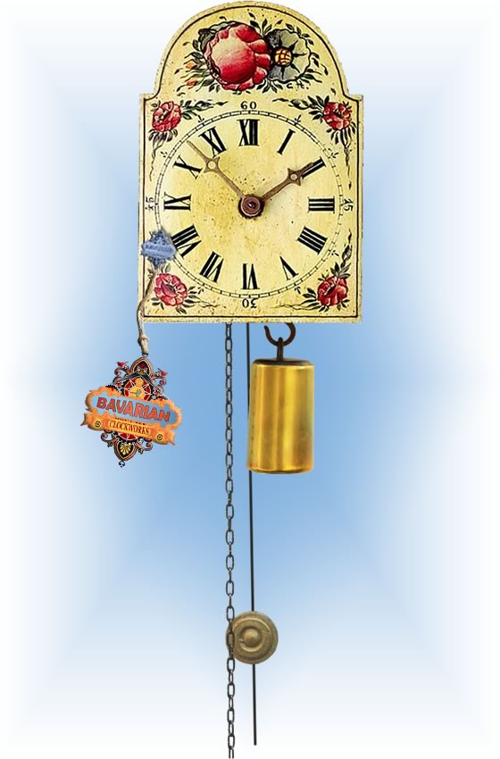 Rombach & Haas | 191 | 5''H | Face of Flowers | Shield style | jockele clock | full view