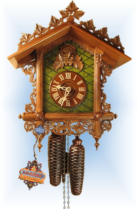 Rombach & Haas | 8221 | 16''H | Bahnhausle Repro | Vintage | cuckoo clock | full view