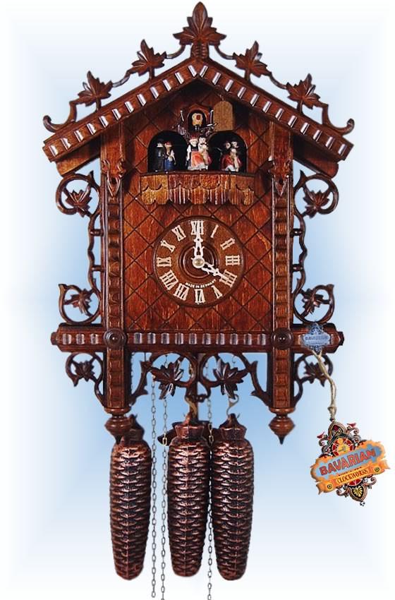 August Schwer | 5.8120.01.c | 17''H | 19th Century Rail | Vintage | cuckoo clock | full view