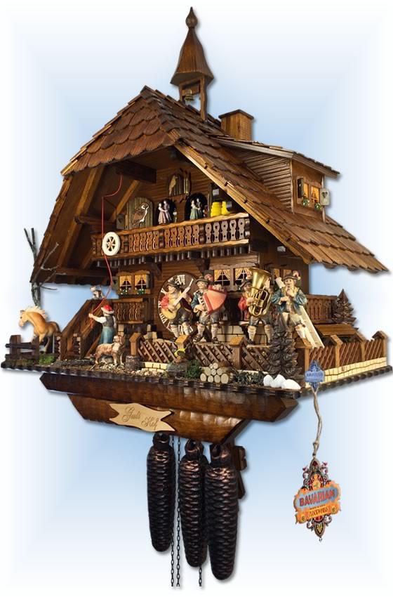 August Schwer   5.8875.01.p   23''H   Gutshof Estate   Chalet style   cuckoo clock   right view