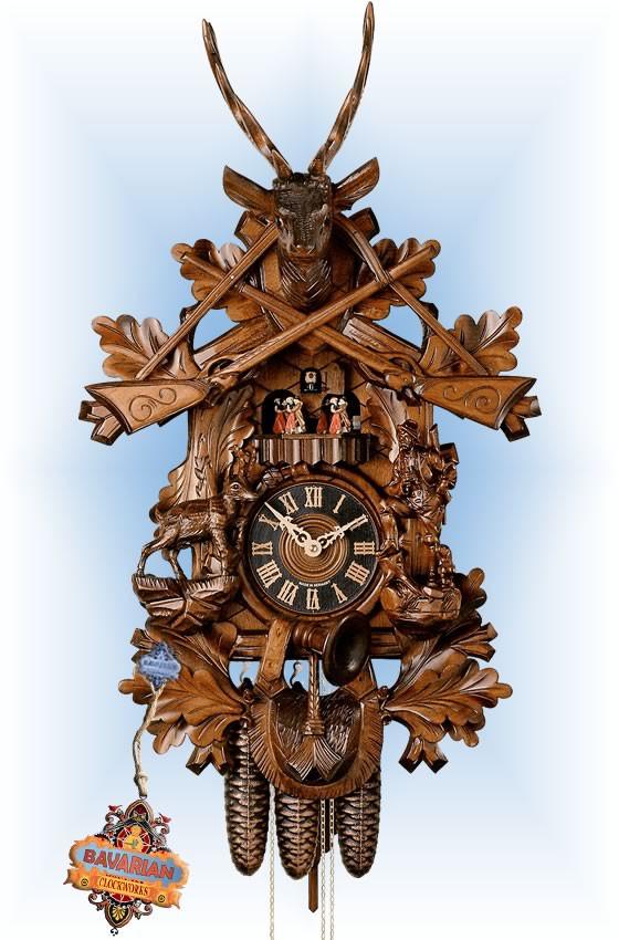 Hones   86746t   30''H   Ibex Hunter   Traditional   cuckoo clock   full view