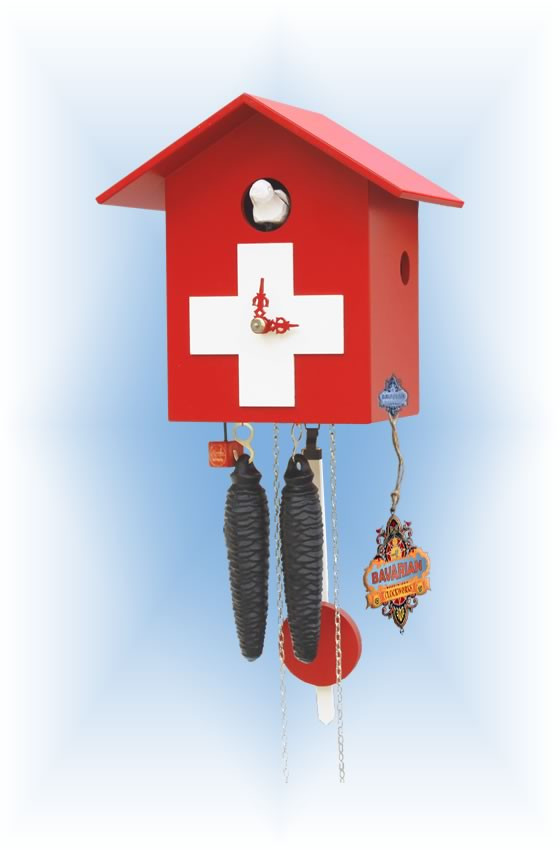 Rombach & Haas | kssl-swiss | 0''H | Little Swiss | Modern | cuckoo clock | full view