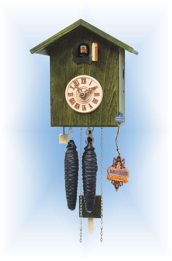 Rombach & Haas | sk12-4 | 7''H | Simple Bird 4 | Modern | cuckoo clock | full view