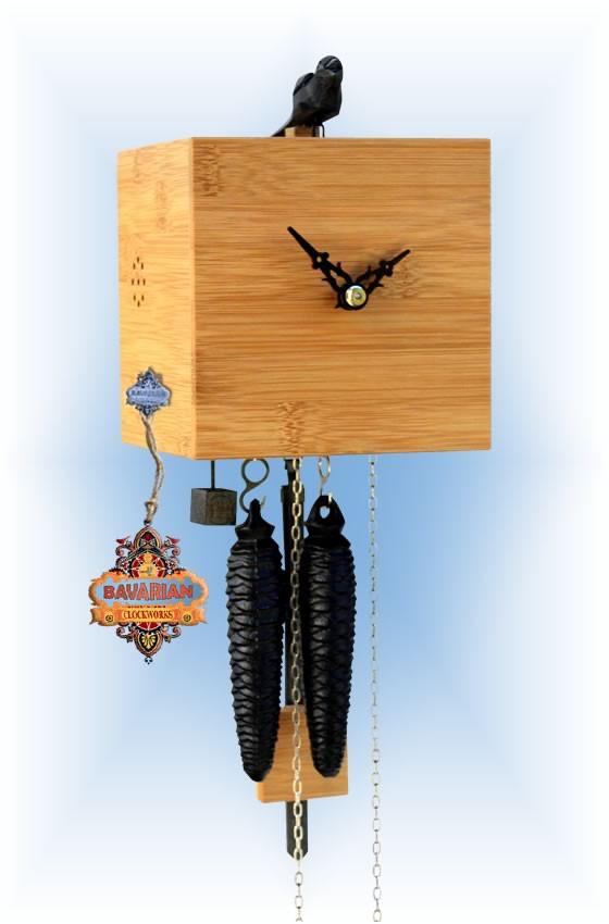 Rombach & Haas   bb11-11   7''H   Freebird 1 Pine   Modern cuckoo clock   full view