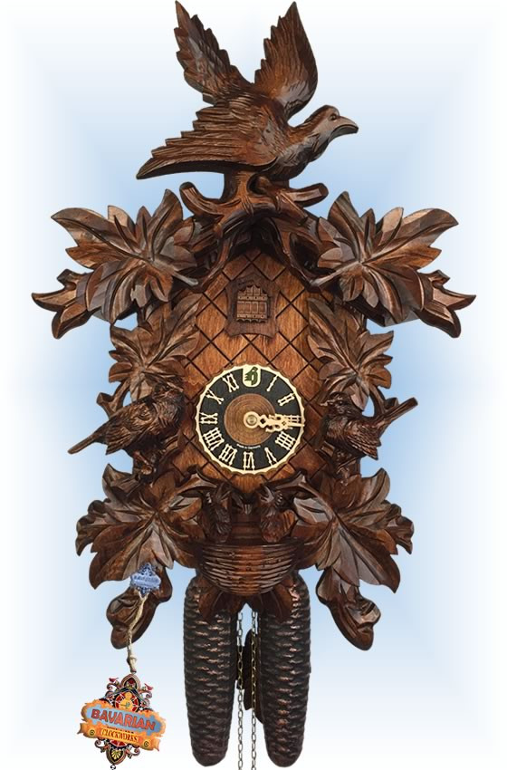Hones | 881-4nu | 17''H | Hungry Chicks | Traditional | cuckoo clock | full view