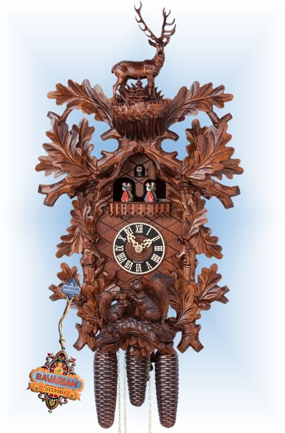 Hones coo coo clocks | 86718-5tnu | 26''H | Majestic Buck | Traditional | full view